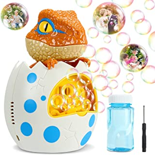 Vimzone Dino Bubble Machine Bubble Blower, Automatic Bubble Maker Toy with Bubble Solution for Toddler and Kids, Party Wedding Baby Shower Indoor/Outdoor Play …