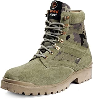 Bacca Bucci® Men's Military Jungle Boots Leather Suede Speed Lace Desert Boots Combat Outdoor Tactical/Light Weight