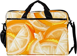 engshizilvbaihuo Unisex Laptop-Tasche, leicht, Segeltuch, Reisetasche, 33,4�,7 cm mit Schnallen, Grün / Orange