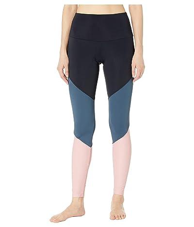 Onzie High-Rise Track Leggings (Black/Wise Wolf/Blush) Women
