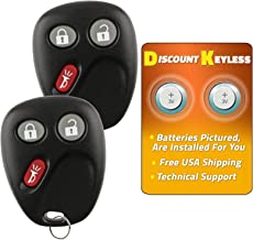 Discount Keyless Replacement Key Fob Car Keyless Entry Remote for Yukon Tahoe Suburban Silverado Sierra Avalanche Escalade LHJ011 (2 Pack)
