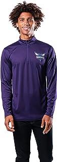 Ultra Game Men's Standard Quarter Zip Pullover Long Sleeve Tee, Team Color, X-Large