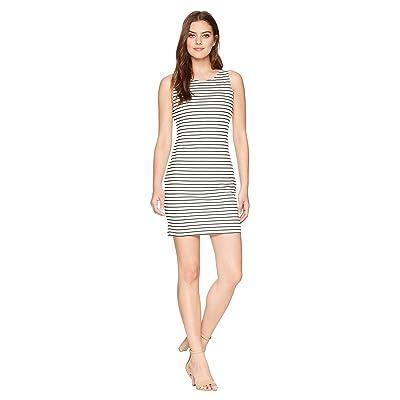Jack by BB Dakota Karen Striped Ponte Bodycon Dress with Back Elastic (Bright White) Women