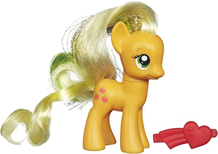 Amazon Com My Little Pony Rainbow Power Applejack Figure Doll Toys Games
