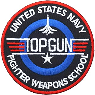 Top Gun Embroidered Iron on Patch ,Sew On Logo