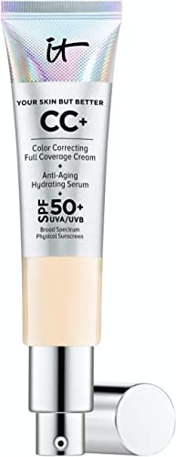 IT Cosmetics Your Skin But Better CC+ Cream, Fair (W) - Color Correcting Cream, Full-Coverage Foundation, Anti-Aging ...