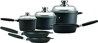 Amazon Eurocast Professional Cookware Chef Set With 3 Glass Lids/Removable Handles. Includes 1.2 Qt Sauce Pan (6.25