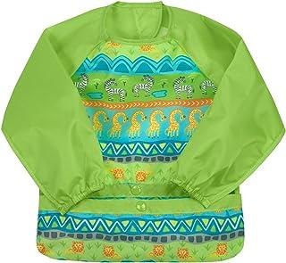 Green Sprouts Snap & Go Easy-Wear Long Sleeve Bib 2T-4T Safari, of