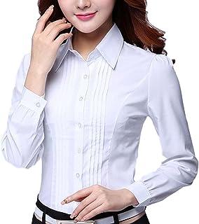 [マリッチ] ブラウス 長袖 【 上品 に キマル 】白 シャツ カッターシャツ ワイシャツ オフィス