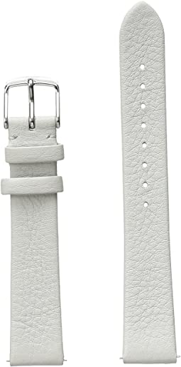 Michele 16mm Thin Leather Strap Light Gray