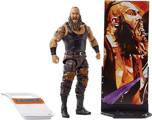 diseñador en linea WWE Figura élite marrón Strowman, Strowman, Strowman, multiColor (Mattel FMG51)  servicio honesto