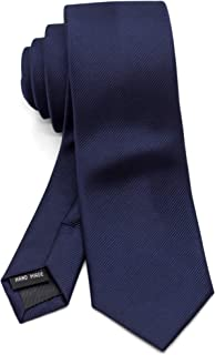 [ダブリューアンドエム] ナロータイ スキニータイ 細 ネクタイ 6cm 幅 洗濯 可能 無地 ソリッド