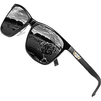 DUCO Metall Sonnenbrille Eckig Unisex Polarisierte Sonnenbrille mit UV400 Schutz für Outdoor Sports 3029H