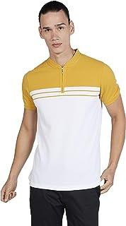 Iconic Men's 2300325 RANGO Knitted Polo Shirt, Yellow