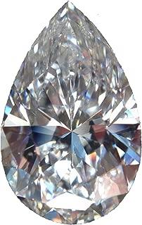 RINGJEWEL 1.03 ct VVS1 Pear-Cut Loose Moissanite Use 4 Pendant/Ring White H-I Color Stone
