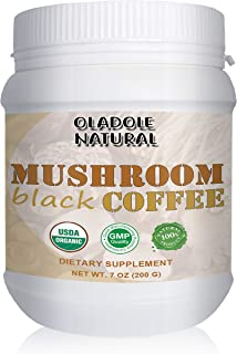Oladole Natural Mushroom Coffee with Organic Cordyceps and Organic Reishi Mushroom Powder 7oz / 200g