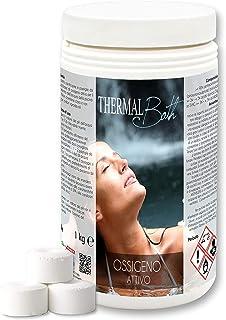 Thermal Bath Oxígeno activo, 1 kg, en pastillas de 20 g, ideal para piscina o hidromasaje (Teuco, Jacuzzi, Dimhora, Intex, Bestway, etc.).