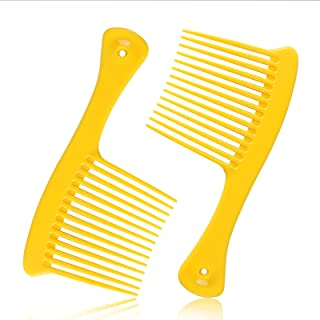 Wide Tooth Comb, Hair Detangler Salon Shampoo Comb for Thick Hair Long Hair and Curly Hair, Detangling Tools for 4c Hair, ...