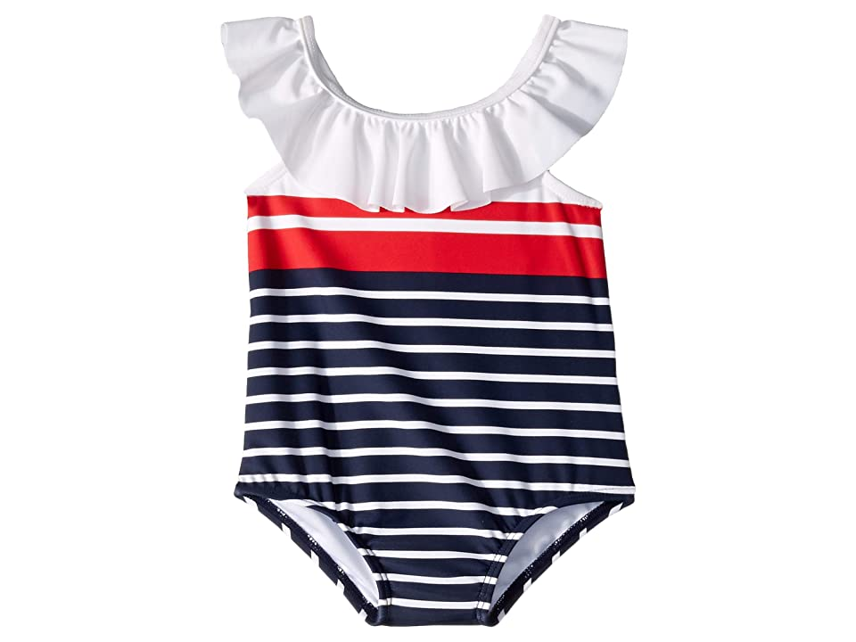Janie and Jack Striped One-Piece Swimsuit (Infant) (Multi) Girl