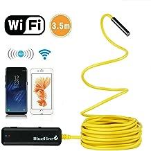 BlueFire Semi-rigid Flexible Wireless Endoscope IP67 Waterproof WiFi Borescope 2 MP HD..