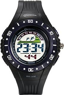 Lancardo Orologio Elettronico Uomo con Cinturino PVC Plastica Quadrante Digitale Impermeabile Sport Multifunzione Blu