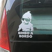2 x Adesivi Vinile Stickers Autoadesivi Decalcomania Beb/è A Bordo Baby On Board Bambino Bimbo a Bordo Adesivo Safety Sign Car Sicurezza Adesivi per Auto Moto Finestr/ìno Finestro Porta B 175