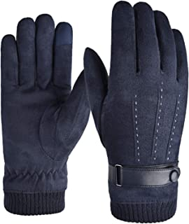 Aniywn Winter Gloves Men Women Touchscreen Running Gloves Cold Weather Warm Gloves Driving Cycling Thermal Gloves