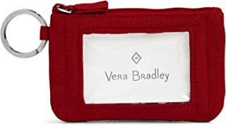 Vera Bradley Women's Iconic Zip Id Case Vv, Cardinal red
