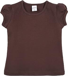 a33f1824cbfe4 Lovetti Girls  Basic Short Puff Sleeve Round Neck T-Shirt