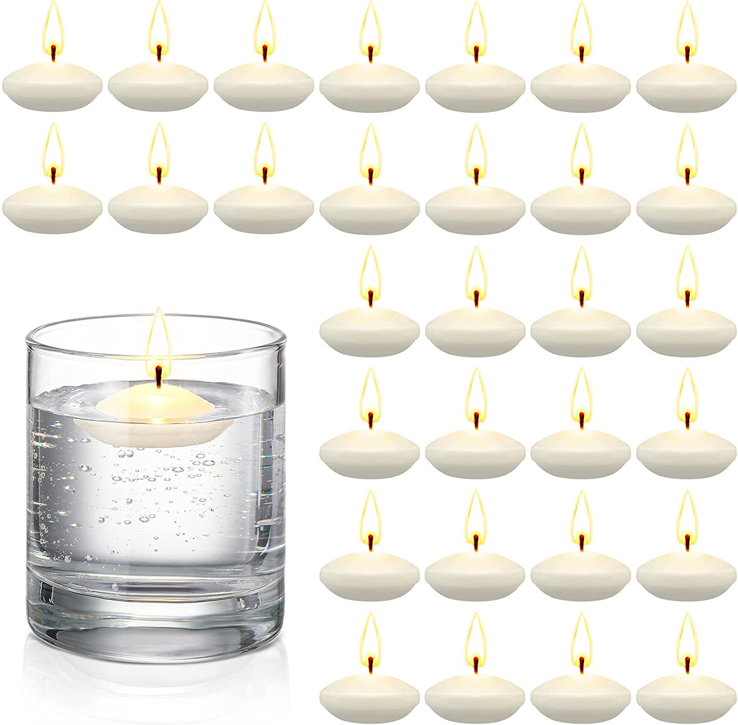 30 2021 spring and summer new Pieces Unscented Floating Centerpieces W Candles for Direct sale of manufacturer
