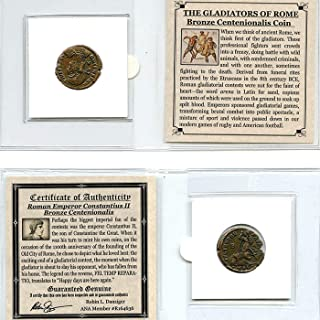 ONE Authentic Ancient ROMAN EMPIRE BRONZE COIN OVER 1600 YEARS OLD Genuine Antique from 240-410 AD