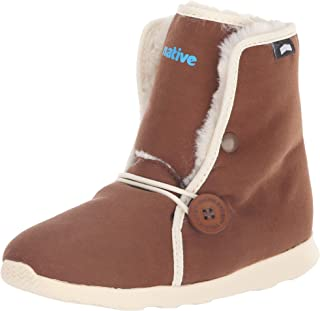 Native Kids Unisex AP Luna Fashion Boot, howler Brown/Bone White, 12 Medium US Little Kid