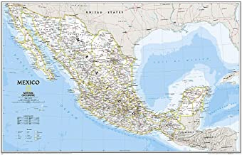 National Geographic: Mexico Classic Wall Map (34.5 x 22.5 inches) (National Geographic Reference Map)