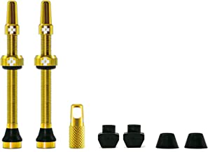 Muc Off Tubeless Valve Kit: Gold, fits Road and Mountain, 60mm, Pair