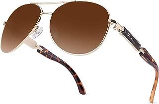 FUMKEN Polarized Aviator Sunglasses for Women Men Driving Snglasses Mirrored Lens UV400 Protection