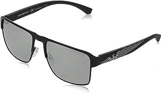 امبوريو ارماني نظارة شمسية مربع للرجال - رمادي، 2066, 57, 3001, Z3