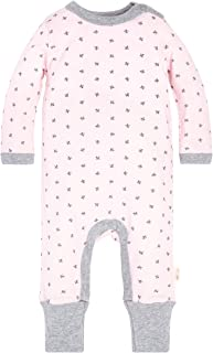 Baby Girls' Romper Jumpsuit, 100% Organic Cotton One-Piece Coverall