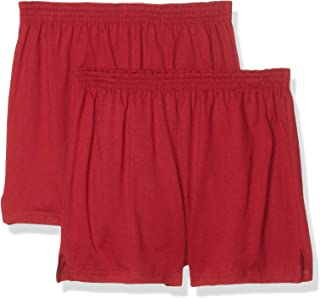 Soffe Juniors' Authentic Cheer Short, Cardinal, Medium (2-Pack)