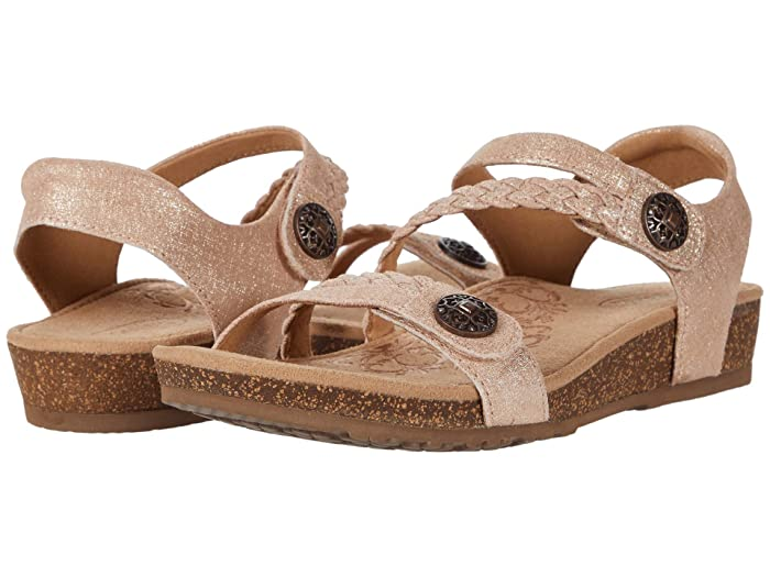 Aetrex  Jillian Quarter Strap (Rose) Womens Sandals