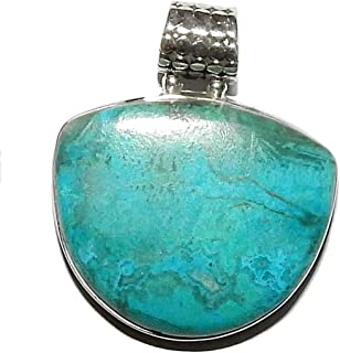 Chrysocolla Pendant 07 Natural Heart Healing Spiritual Crystal Energy (Gift Box)