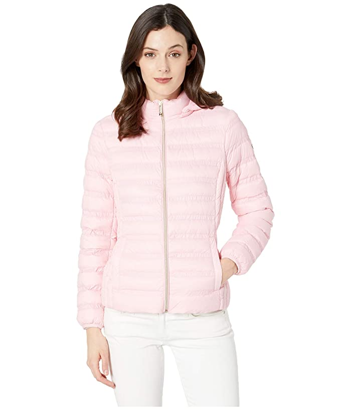 MICHAEL Michael Kors Zip Front Packable with Removable Hood M823964M (Carnation) Women
