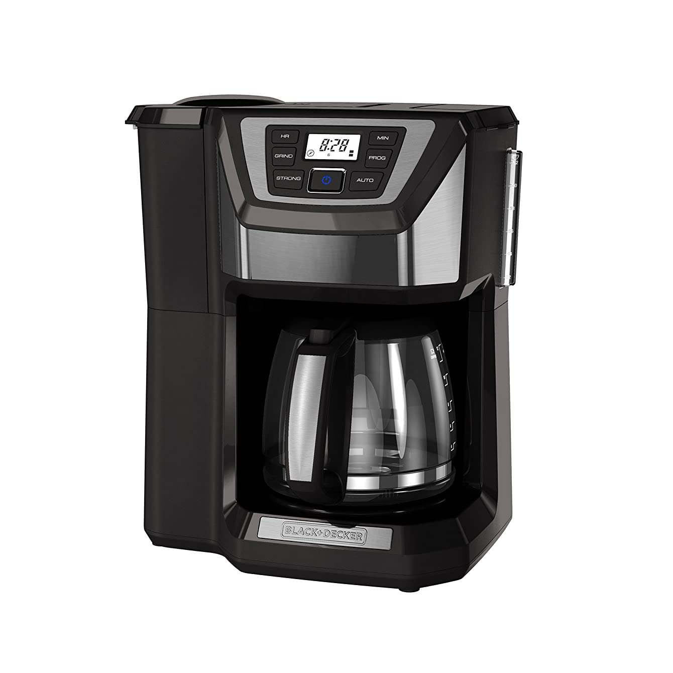 BLACK+DECKER CM5000GD 12-Cup Mill and Brew Coffee Maker, Black/Grey