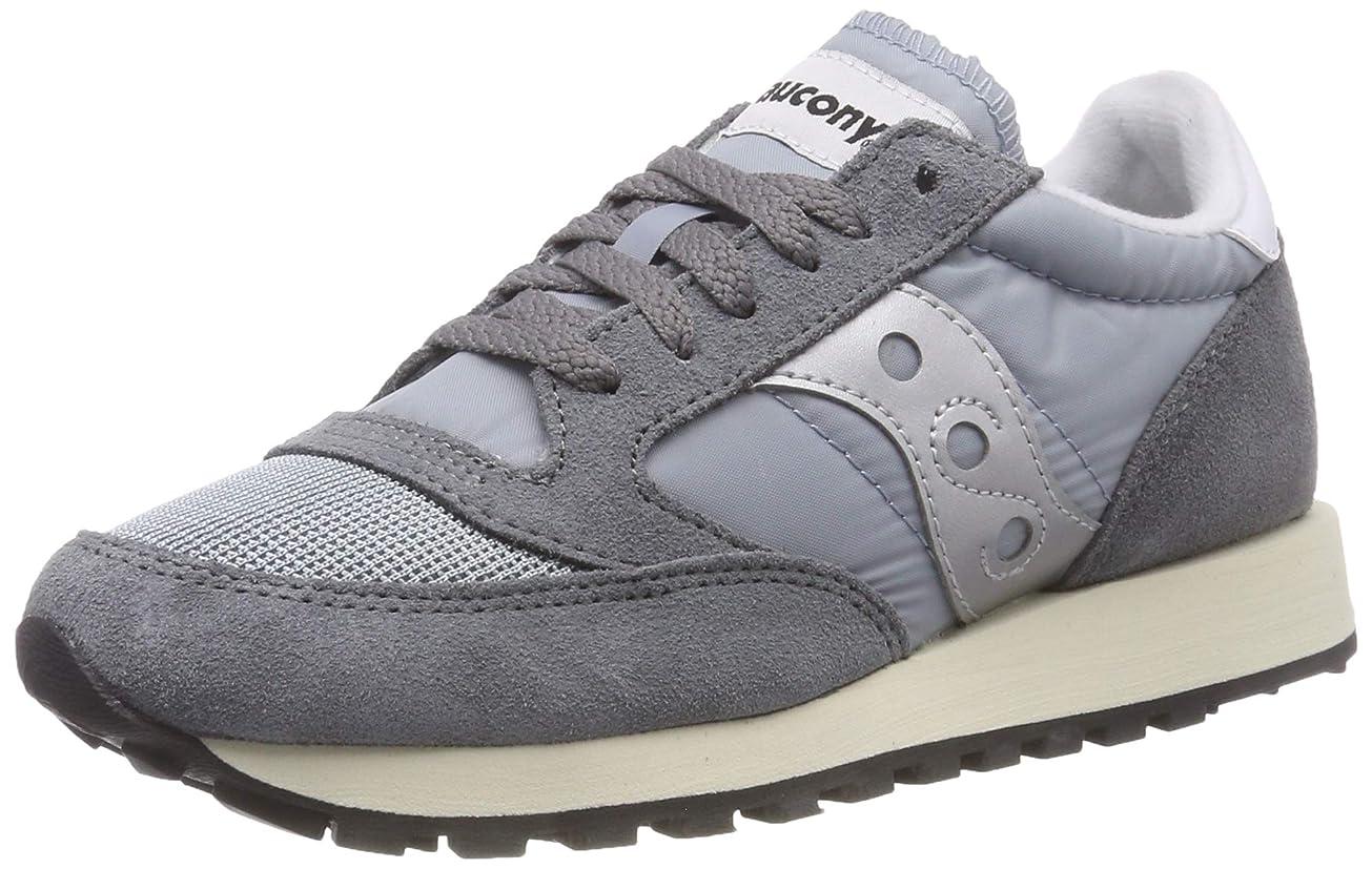 が欲しい望むフレア[Saucony] Women's Jazz Original Grey/Blue White Ankle-High Running Shoe - 6M