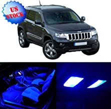SCITOO Interior LED Lights Blue Replacement for 2005-2010 Jeep Grand Cherokee Accessories Package Kit 9Pcs