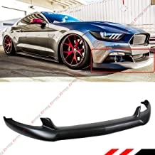 Fits for 2015-2017 Ford Mustang GT Ecoboost V6 Black C Style Front Bumper Lip Spoiler Splitter