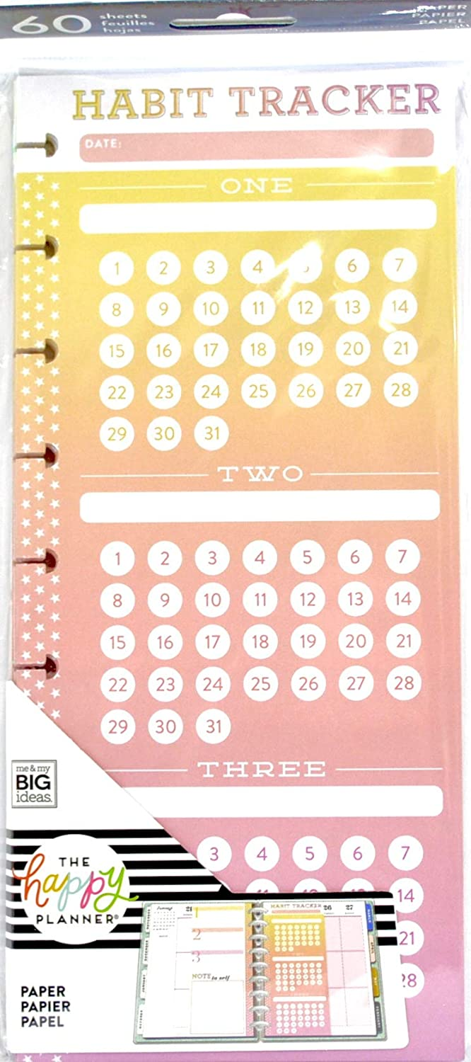 Max 43% OFF MAMBI The Happy Planner - Habit Classic Trackers Sheet Sales for sale Half
