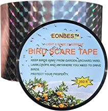 EONBES Bird Deterrent Ribbon Reflective Scare Tape, Holographic Hawk Pigeon Seagull Sparrow Woodpecker Crow Geese Deterrent Scarer, 350 Feet by 2 Inches