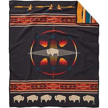 Twin Pendleton Woolen Mills 71362 IVRY TWIN Ivory Pendleton Glacier Park 100th Anniversary Wool Blanket