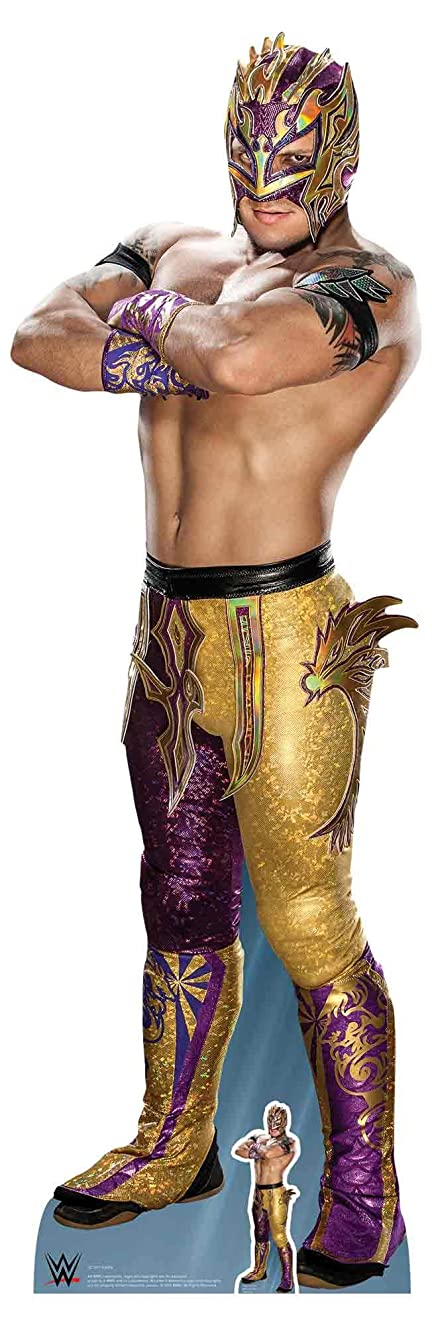 Star Cutouts SC1252 Official Lifesize Cardboard WWE Figure Kalisto 168cm Tall, Multicolour