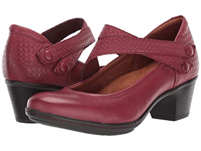 Rockport Cobb Hill Collection Kailyn Asymmetrical Mary Jane (Red) Women